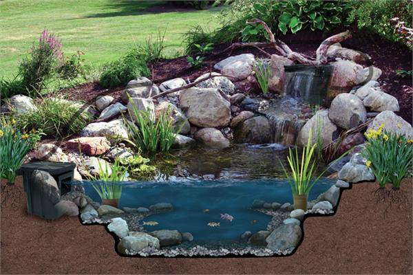 Atlantic water gardens oasis pond kit for Garden pond kit